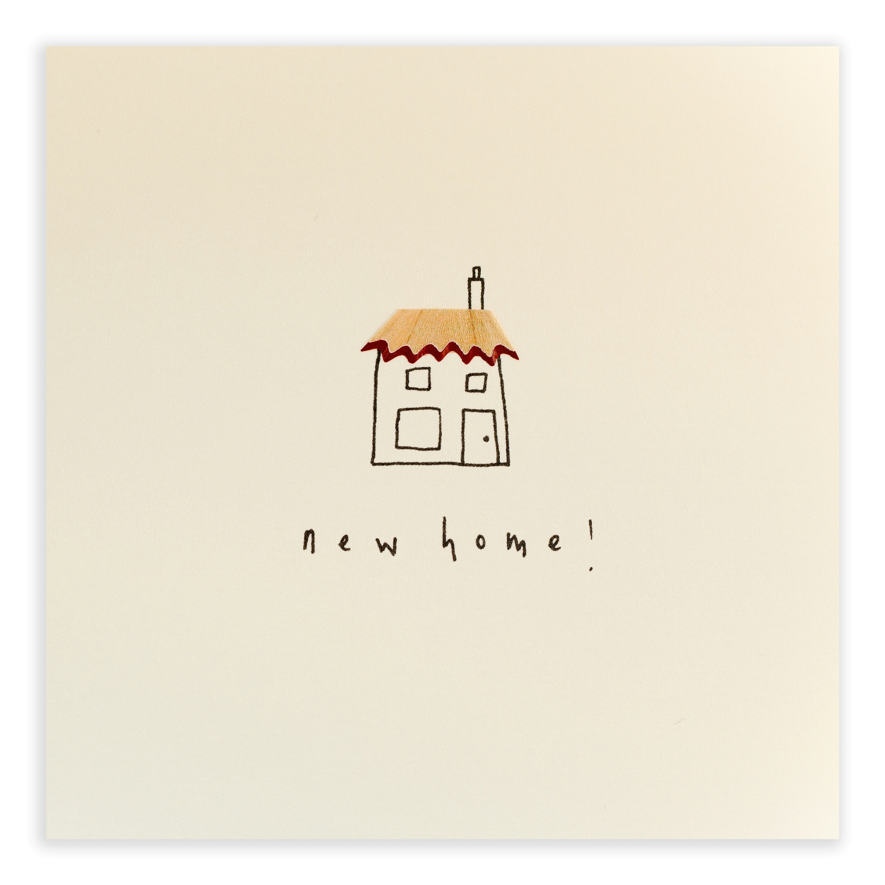 New Home Pencil Shaving Greeting Card