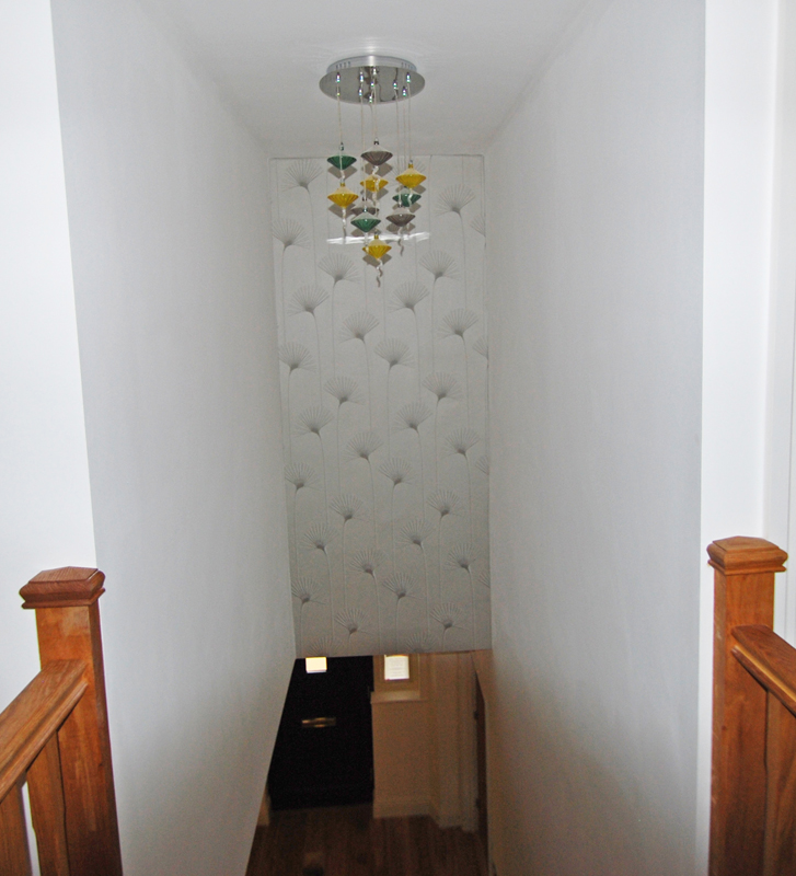 Hall stairs landing portfolio interior design - How to wallpaper stairs and landing ...
