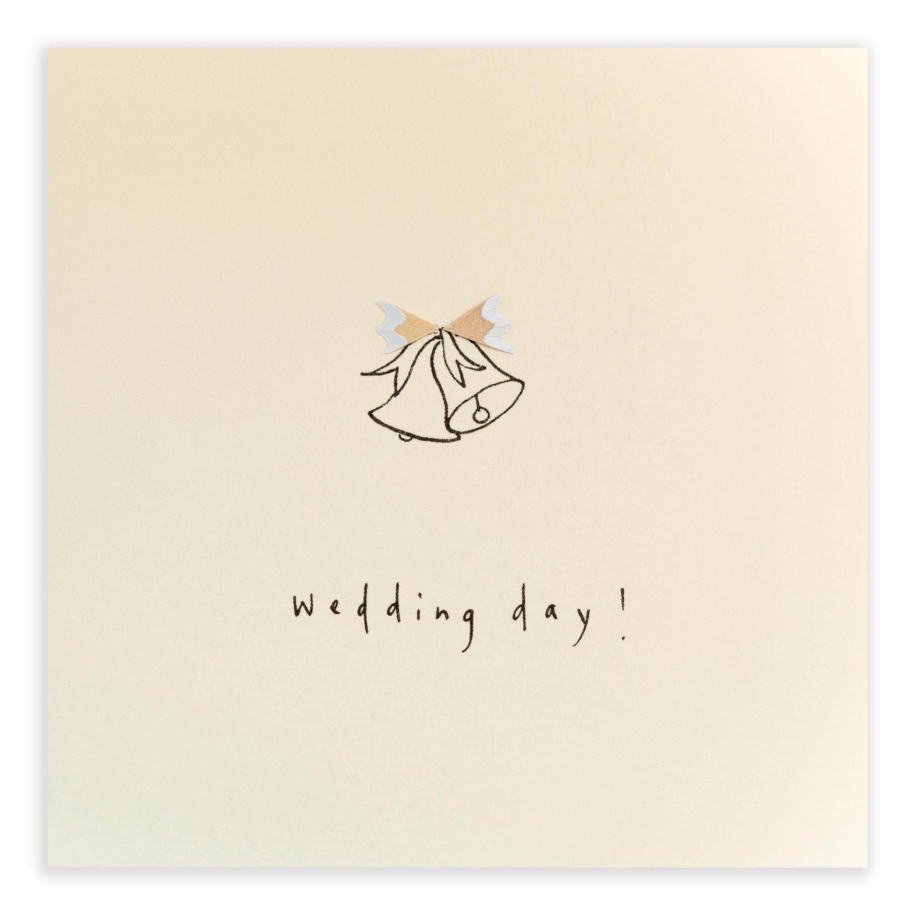 Wedding bells pencil shaving greeting card description m4hsunfo