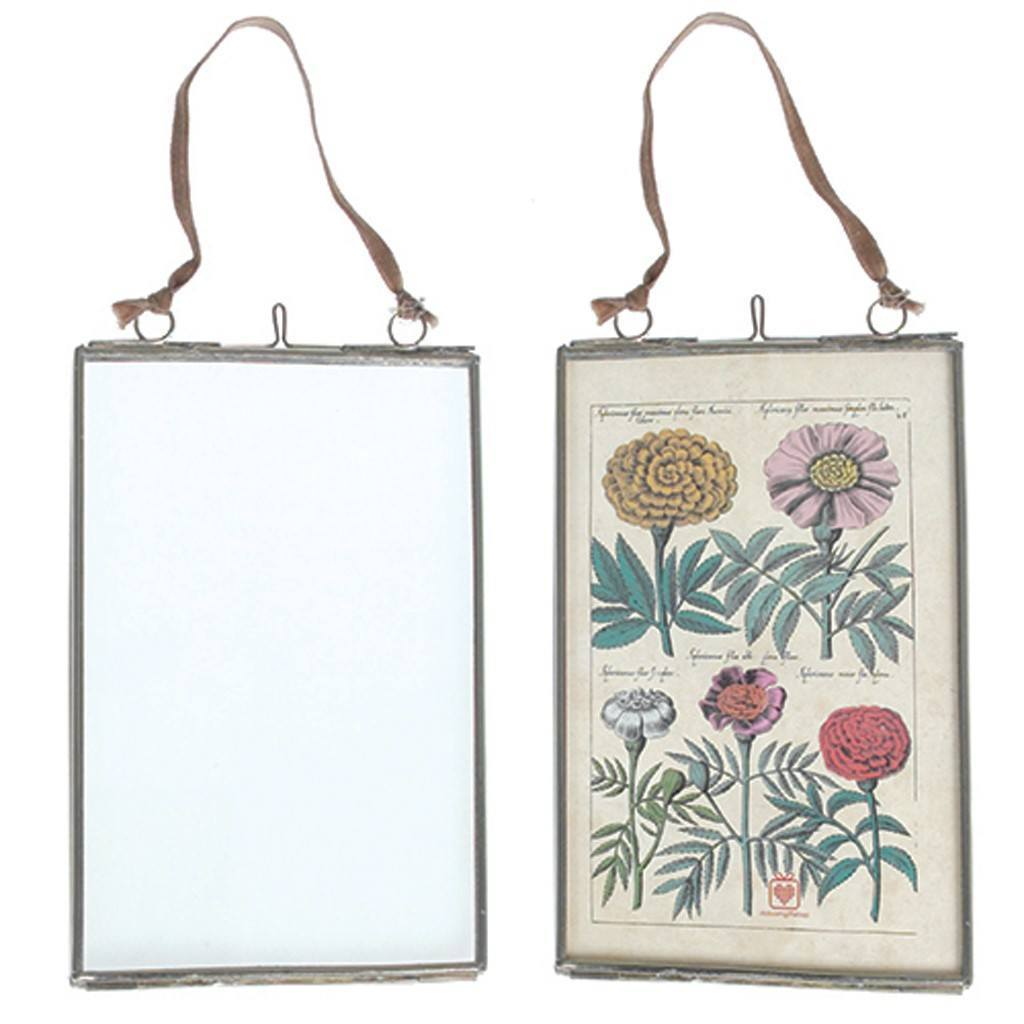 Small Glass Hanging Frame in SIlver -