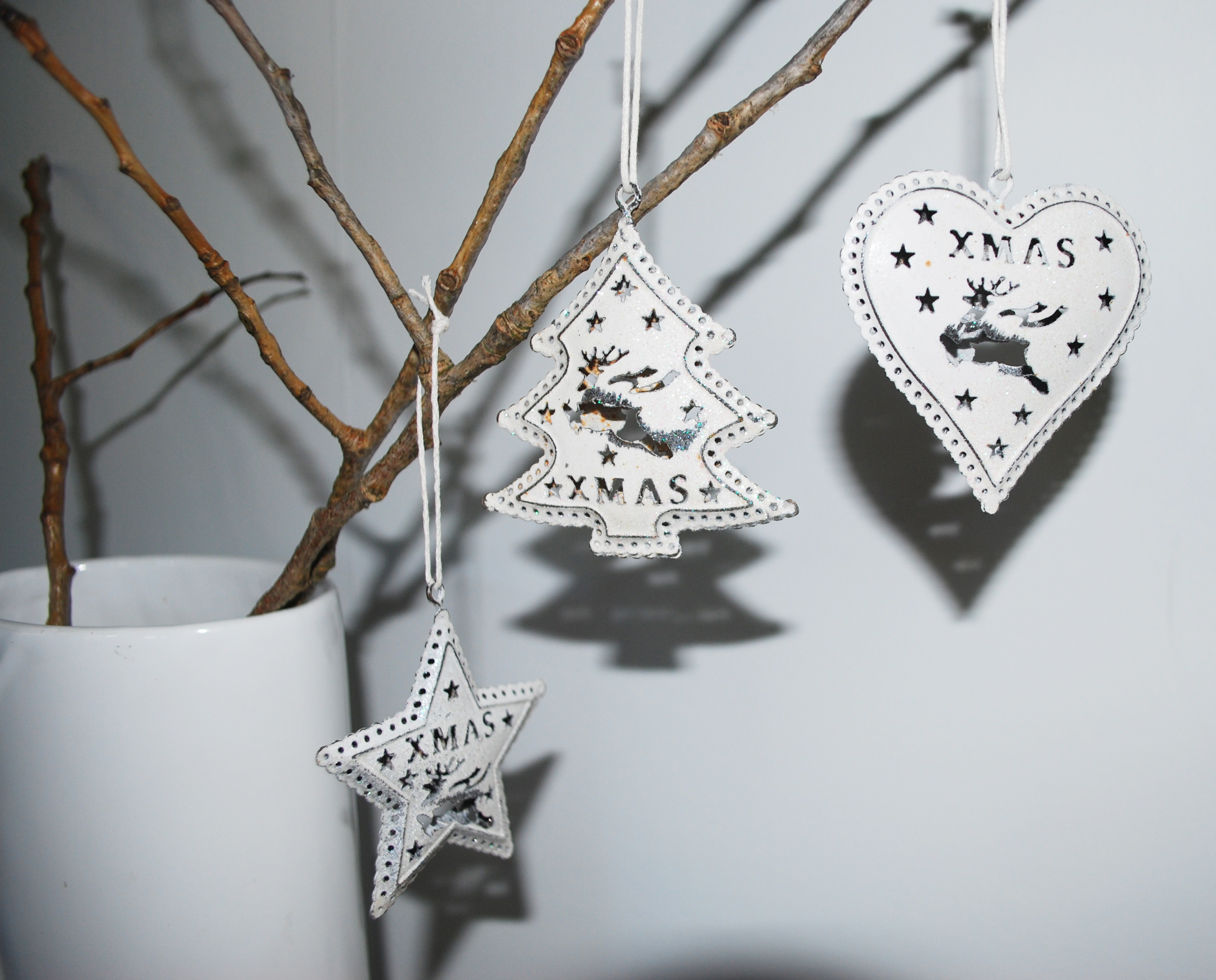 Christmas Heart Decoration.Metal Heart Star Or Tree Christmas Tree Decorations
